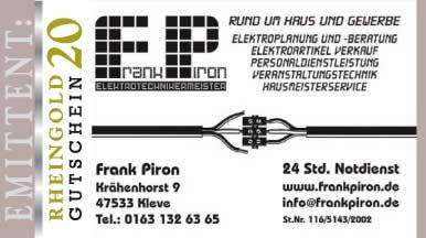 Hier der Schein von Frank Piron