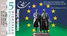 Rheingold-Schein der Islamischen-Zeitung